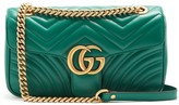 Gucci GG Marmont Small Quilted-leather Shoulder Bag - Womens - Green