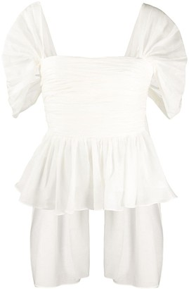 Brock Collection Ruched Peplum Top