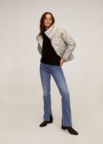 MANGO Satin quilted jacket beige - XS - Women