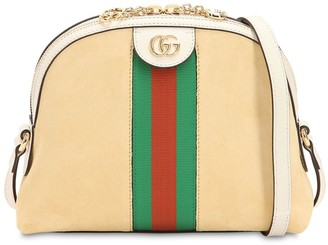 Gucci Ophidia Suede Shoulder Bag