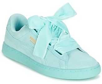 Puma SUEDE HEART RESET WN'S women's Shoes (Trainers) in Blue