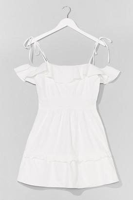 Nasty Gal Womens Sun Trap Ruffle Mini Dress - White