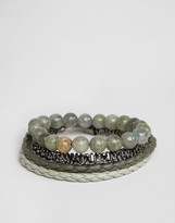 Aldo Khaki Bracelets In 4 Pack