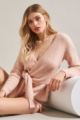 Karen Millen Super Soft And Cosy Wrap Tie Jumper