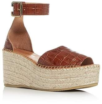 Andre Assous Women's Luz Croc-Embossed Espadrille Platform Sandals