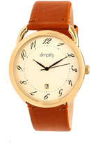 Simplify The 4900 Unisex Brown Strap Watch-Sim4903