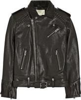 Zerignola fringed leather jacket