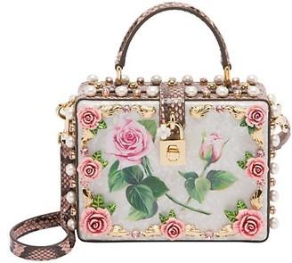 Dolce & Gabbana Dolce Box Rose-Applique Crossbody Bag