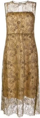 Vince Sd Slvls Lace Dress