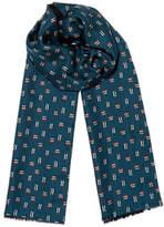 Jigsaw Jaeger Crosshatch Wool Silk Scarf