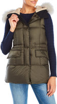 Peuterey Salgado Down Vest with Real Fur Trim
