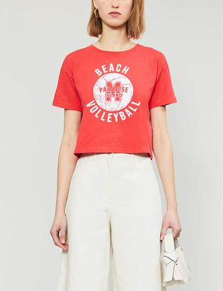 Maje Tango cotton-jersey T-shirt