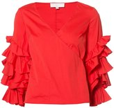 Caroline Constas ruffled sleeve blouse - women - Cotton/Nylon/Spandex/Elastane - XS