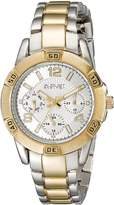 August Steiner Women's AS8143TTG Analog Display Quartz Two Tone Watch