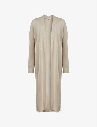 AllSaints Luca woven longline cardigan