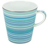 Raynaud Multi-Colored Striped Mug
