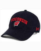 Under Armour Wisconsin Badgers Brushed Twill Adjustable Cap