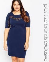 Junarose Lace Insert Body-Conscious Dress