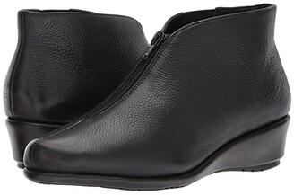 Aerosoles Allowance (Black Leather) Women's Wedge Shoes