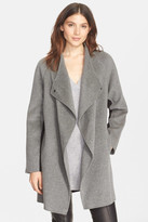 Vince Wool Blend Two-Tone Sweater Back Coat