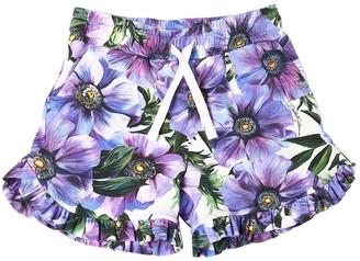 Dolce & Gabbana Anemone Print Cotton Interlock Shorts