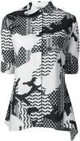 Neil Barrett patterned camouflage shirt - women - Cotton/Spandex/Elastane - S