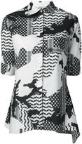 Neil Barrett patterned camouflage shirt - women - Cotton/Spandex/Elastane - XS