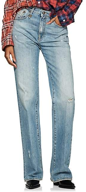 R 13 Women's Colleen High-Rise Boot-Cut Jeans - Blue
