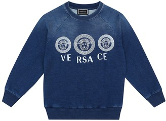 Versace Kids Logo stretch-cotton sweater