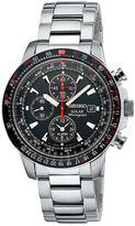 Seiko Mens Multifunction Silver-Tone Solar Watch SSC007