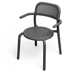 Fatboy Toni Stacking Patio Dining Chair Color: Anthracite