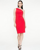 Le Château Knit One Shoulder Fitted Dress