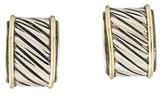 David Yurman Two-Tone Hoop Earrings