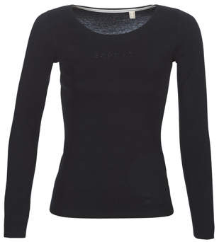 Esprit 089EE1K041-001 women's Long Sleeve T-shirt in Black