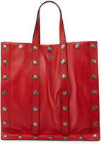 Moschino Studded Leather Tote Bag with Shoulder Strap