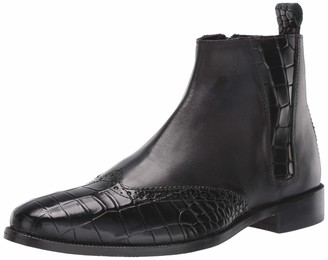 Stacy Adams Men's Fazio Wingtip Side-Zip Boot Fashion