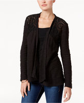 Style&Co. Style & Co Open-Front Lace-Yoke Cardigan, Only at Macy's