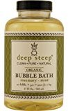 Deep Steep by ROSEMARY-MINT ORGANIC BUBBLE BATH 17 OZ for UNISEX ---(Package Of 6)