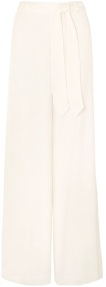 Halston Crinkled-crepe Wide-leg Pants