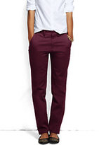 Lands' End Women's Petite Pre-hemmed Mid Rise Straight Leg Chino Pants-Vintage Blossom