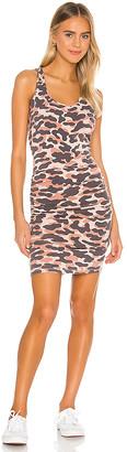 Monrow X REVOLVE Animal Tank Shirred Mini Dress
