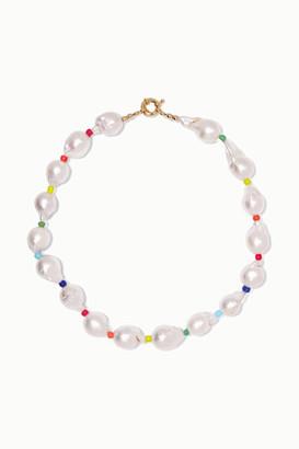 Eliou Asti Pearl And Bead Necklace - White