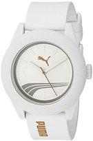 Puma Quartz Plastic and Silicone Automatic Watch, Color:White (Model: PU103971006)