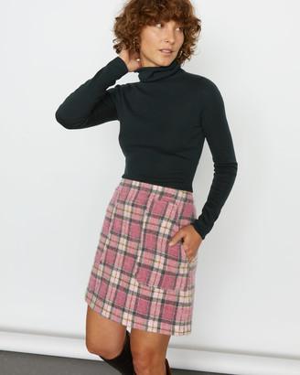 Jigsaw Tartan Pocket Mini Skirt