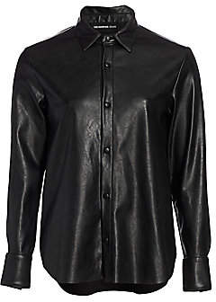 The Kooples Women's Faux Leather Shirt