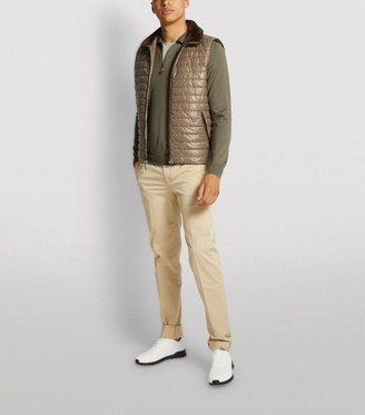 Kiton Cashmere-Silk Zipped Polo Shirt