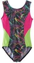 Jacques Moret Girls 4-14 Swirl Colorblock Leotard