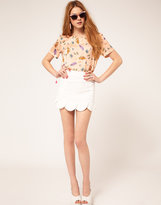 ASOS Mini Skirt With Petal Hem