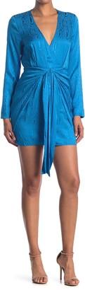 Ronny Kobo Marissa Tonal Printed Gathered Mini Dress