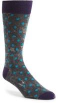 Lorenzo Uomo Men's Stonewashed Dot Socks